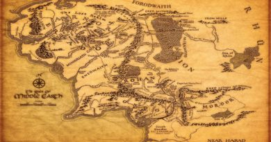 middle earth - mappa