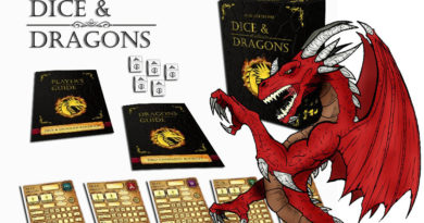 dice and dragons Fantasy role playing dice game meniac cover