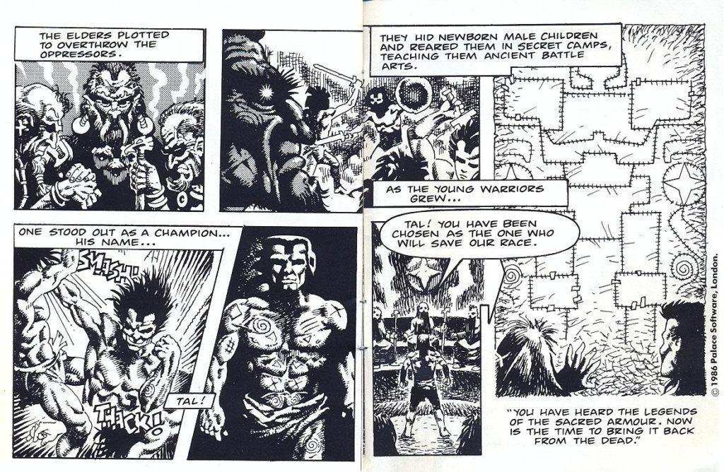 the sacred armour of antiriad meniac comic strip