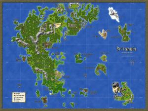 Ultima Online Britannia Map