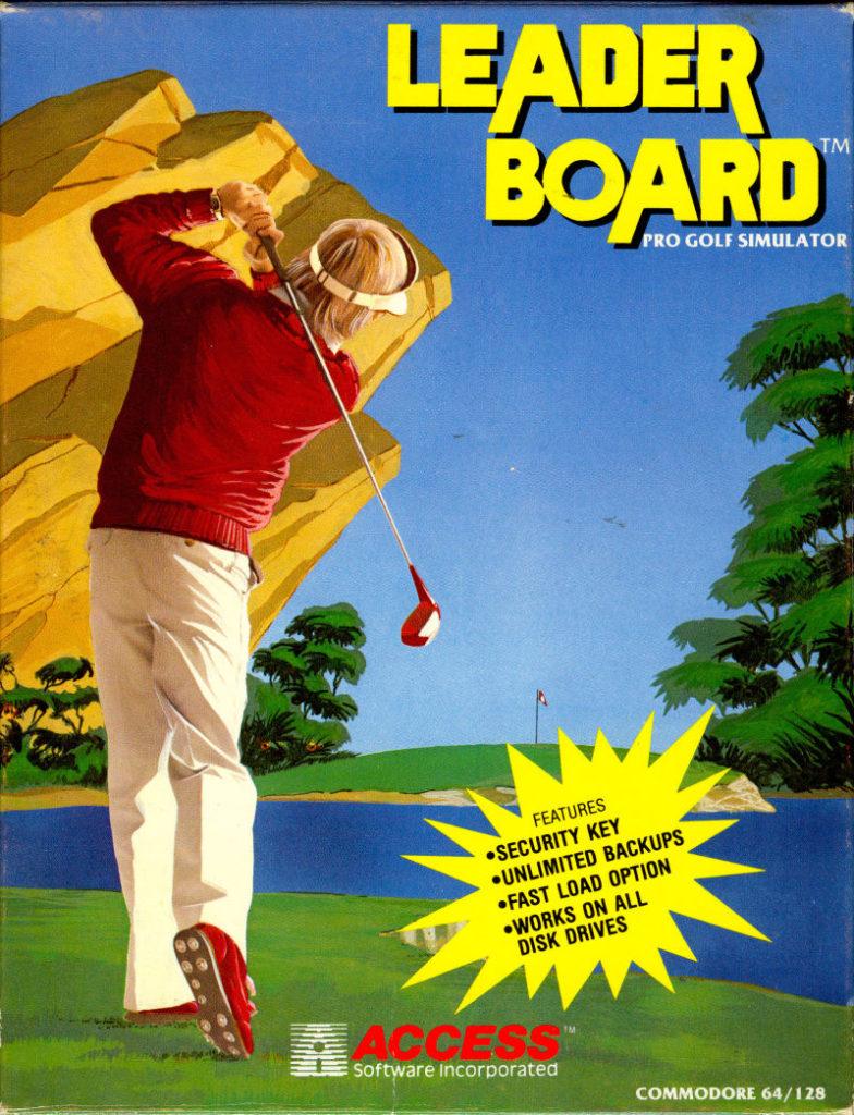 Leader Board Cover C64