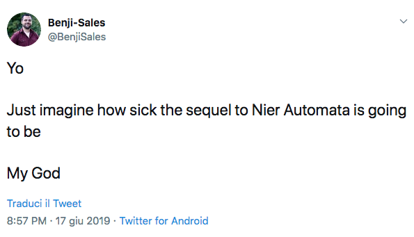 nier automata sequel development meniac news