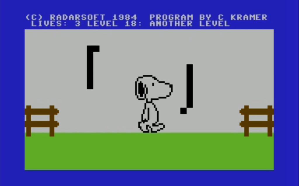 snoopy c64 meniac review retogames