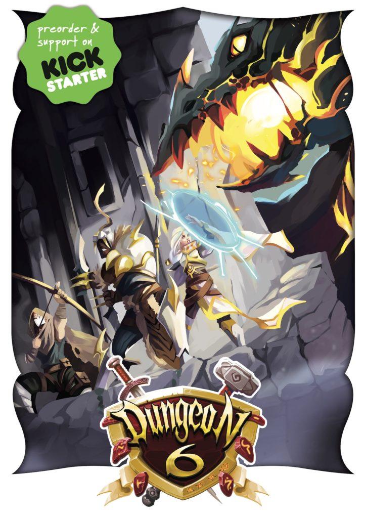 Copertina Kickstarter Flat meniac Dingeon 6 preview