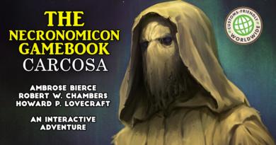 the necronomicon gamebook carcosa kickstarter meniac news