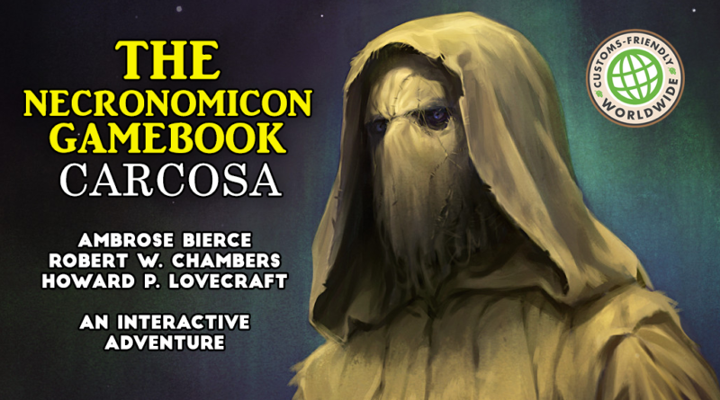 the necronomicon gamebook carcosa kickstarter meniac news