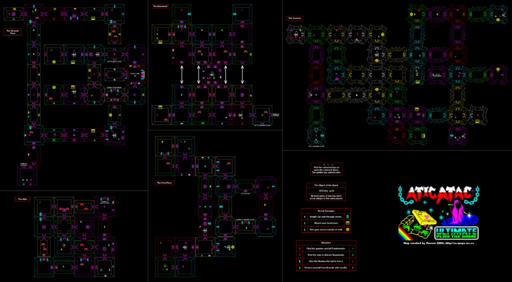 Atic Atac meniac map