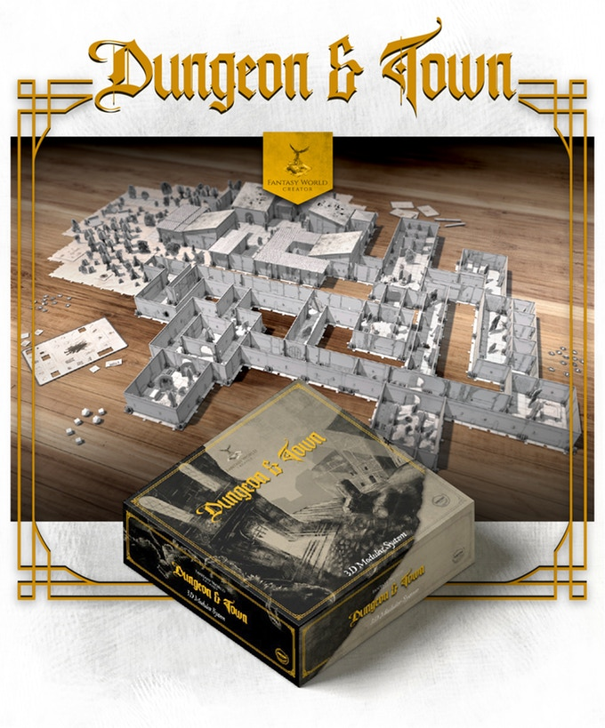 Fantasy World Creator Dungeon & Town kickstarter meniac news 2