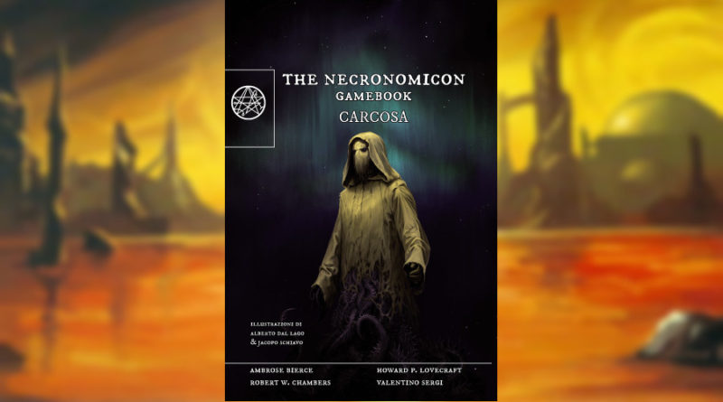 the necronomicon gamebook carcosa meniac recensione