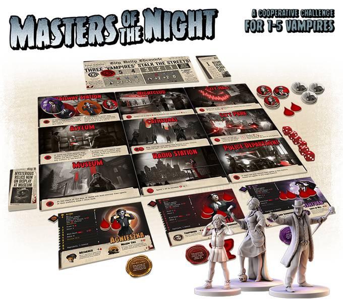 Masters of the Night Kickstarter news