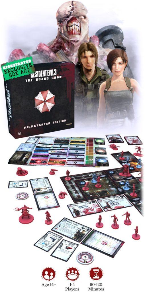 resident evil 3 the Board Game kickstarter meniac news 1