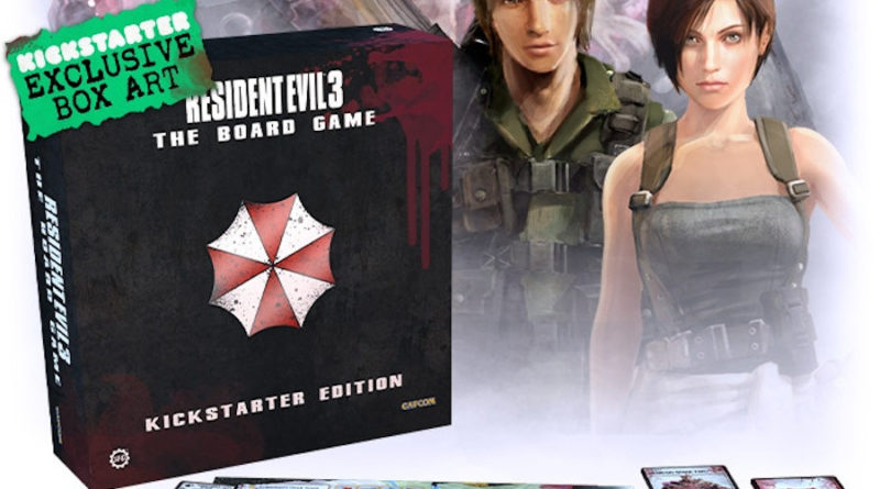 resident evil 3 the Board Game kickstarter meniac news