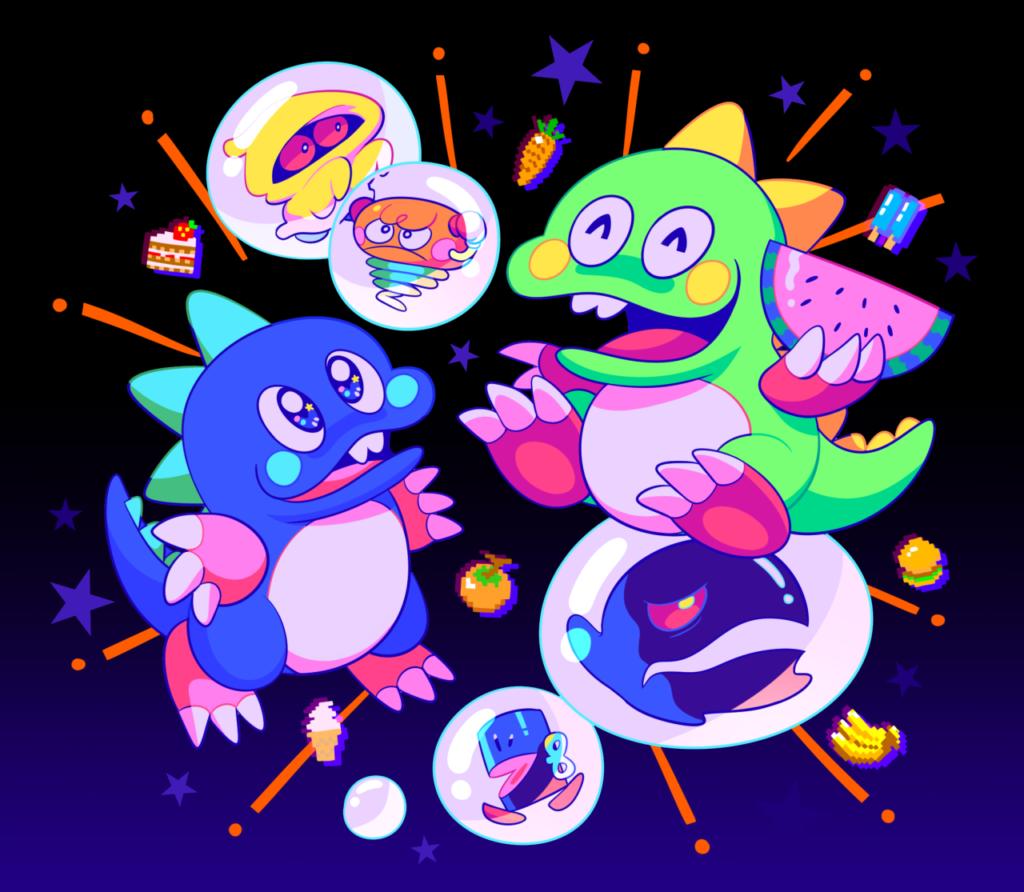 bubble bobble art