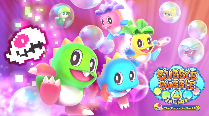 bubble bobble 4 friends baron meniac recensione cover