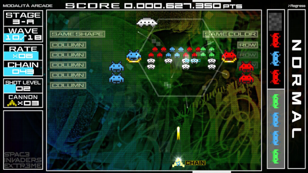 space invaders Forever meniac recensione 2