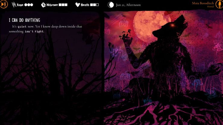 werewolf the apocalypse heart of the forest meniac recensione 4