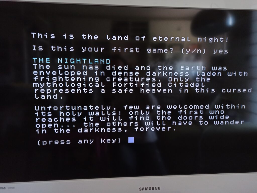 the Nightland C64 meniac recensione 2